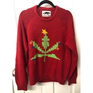 Urban Outfitters pot leaf Christmas sweater